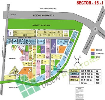 Sector 15 I Map