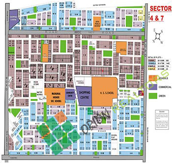 Sector 4 and 7 Map Gurgaon