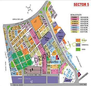 Sector 5 Gurgaon Map