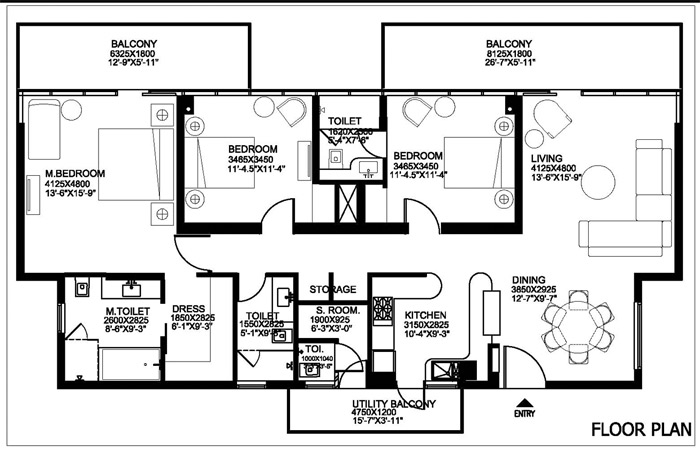 Ireo Grand Arch 3 bhk floor plan