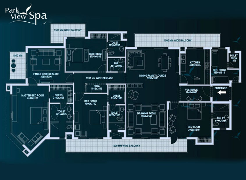 Bestech Park View Spa 4 BHK Floor Plan