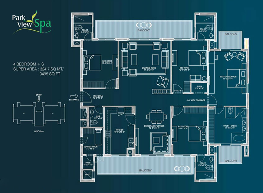 Park View Spa Floor Plan