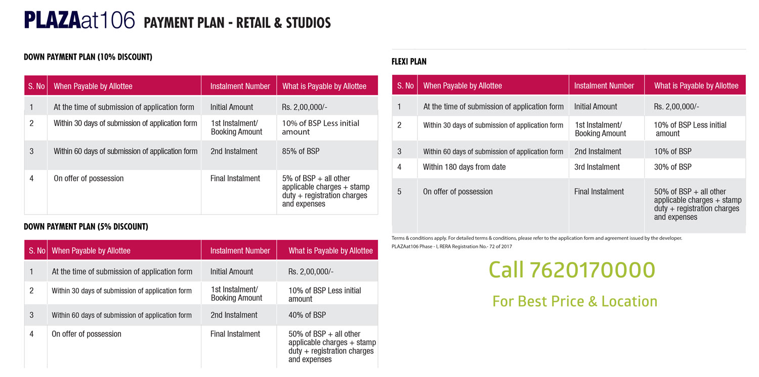 Wtc Plaza 106 Studio Apartments Payment Plan